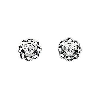 Heritage Mystic Birthstones April Twist Pendientes 3234APR024