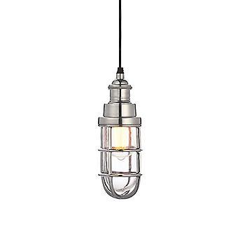Pendentif Poli En aluminium et verre transparent 1 Light Dimmable IP20 - E27