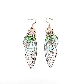Handmade Fairy Butterfly Wing - Drop Earring Jewelry