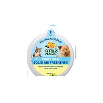 Citrus Magic Solid Air Freshener Absorbs Pet Odors, Pure Linen 20 oz