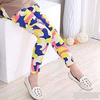 Flower Print Girls Leggings Pencil Pants For Autumn Season Set-3