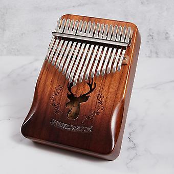 Kalimba 17 Key Mahogany Thumb Piano Mbira Musical Instrument Africa Finger Piano Instrumento Musical