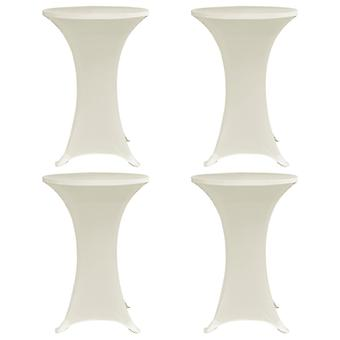 Standing table husses 4 pcs. x 80 cm cream stretch