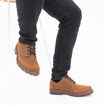 ريكر 17710-26 رجال جلد تناسب واسعة أحذية براون