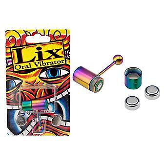 Lix rainbow anodized حلقة اللسان تهتز