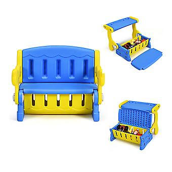 3-in-1 Kids Table and Chair Set Muiltiple Children Activity Learning Furniture