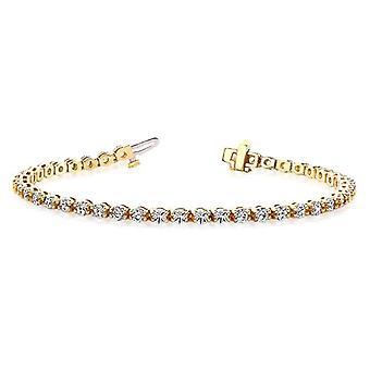 Dubbel länk Diamond Armband 3,00 ct. tw.