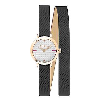 Furla Women'S Vittoria Silver Dial  Calfskin Leather Watch
