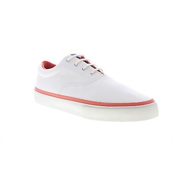 Sebago John Surf  Mens Beige Canvas Lace Up Sneakers Lifestyle Shoes