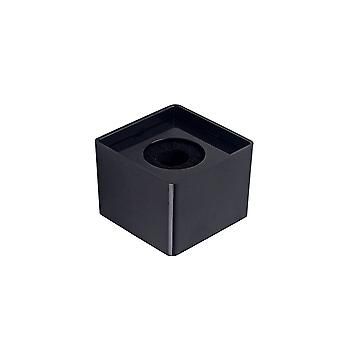 Black Portable Square Cube Shaped ABS Material Microphone Station Logo SA100