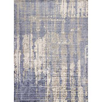 "IND 0802 3'3""X 5'3"" / Grau/Blauer Teppich"