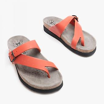 Mephisto Helen Ladies Leather Mule Sandals Red