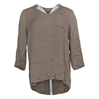 Lisa Rinna Colección Mujer's Top Stretch Woven Purple A341679