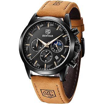 BENYAR Mens Watch Chronograph Waterproof Analog Quartz Wrist Watch