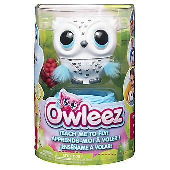 Owleez 6046148 lietajúca detská sova interaktívna hra so svetlami a zvukmi (biela), pre deti vo veku od 6 rokov