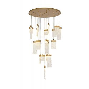 Chloe Pendant Round 5m, 21 X 4.5w Led Painted Brushed Gold