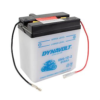 Dynavolt 6N61D2 Conventional Dry Charge Battery With Acid Pack