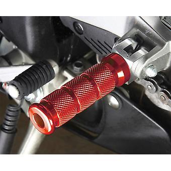 BikeTek Alloy Round Sports Footpegs Ducati Pillion Red