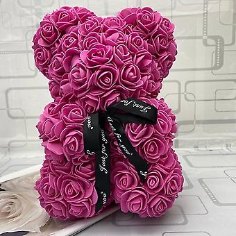Teddy Rose Bear, Artificial Flower, Christmas Decoration For Home, Valentines,