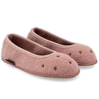Women's Slipper Haflinger Star In Antique Pink Cooked Wool