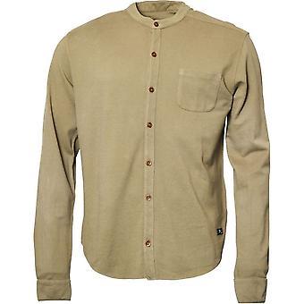 Replika Jeans Tall Fit Long Sleeve Textured Grandad Shirt
