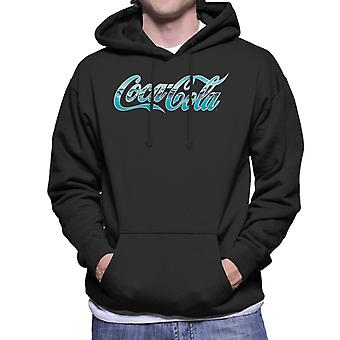 Coca Cola Surf Infill Logo Men's Hooded Sweatshirt