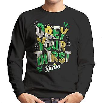 Sprite Enjoy And Obey Your Thirst Men's Sweatshirt