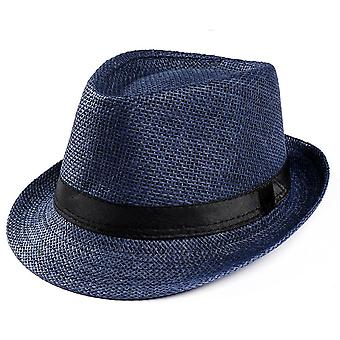 Retro Men's Fedoras Top Jazz Plaid Hat Spring Summer Autumn Bowler Cap Classic