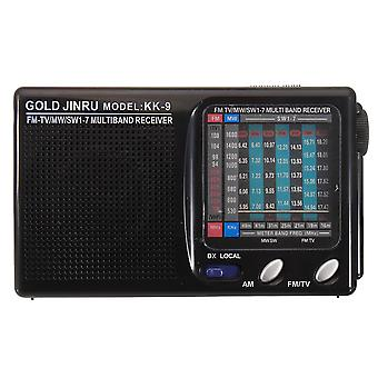 Portable Full Band Radio FM Stereo Speaker MW SW Radio Receiver Shortwave Receiver