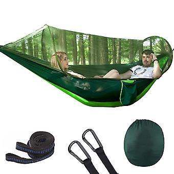 Outdoor Automatic Quick Open Portable Camping Hammock with Mosquito Double Parachute Hammocks Swing