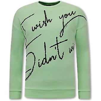 Sweater Met Tekst -Groen  Mint