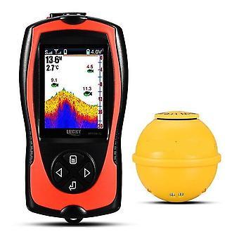 Lucky Fish Finder Wireless Sonar Sensor, Farbanzeige Max 45m Wassertiefe
