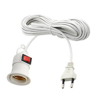 Base de lámpara con botón de presión independiente del cable de alimentación