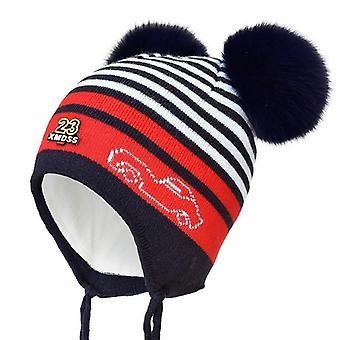 Enjoyfur Winter Kids Hat With Double Fox