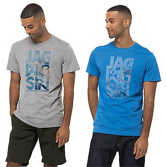 Jack Wolfskin 2021 Mens Atlantic Ocean Stretch Lichtgewicht Grafische T-shirt