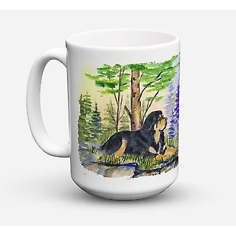 Caroline's Treasures SS8007CM15 Tibetan Mastiff Microwavable Ceramic Coffee Mug, 15 oz, Multicolor