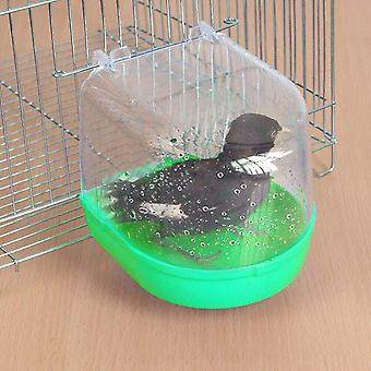 New Small Parrot Bird Bathtub Pet Cage Accessories Mirror Bath Shower Box