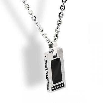 Collar y colgante Rochet HP1522100 - Acero Bicolore Negro ROCK 12x25mm - Cha sólo 50cm 3mm Hombres