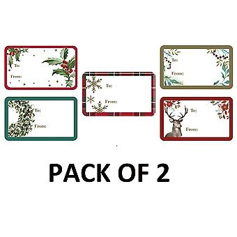 Eurowrap Christmas Sticker Tags (Pack of 100)