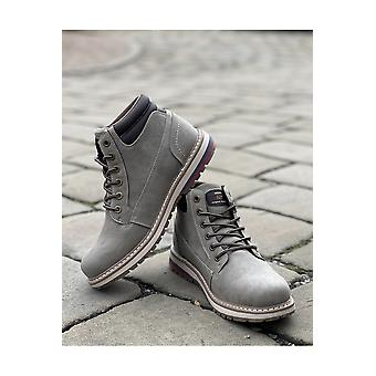 Route 21 Taupe Winter Walking Boots