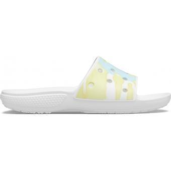 Crocs 206520 Klassinen tieväri graafinen dia Naiset Dia Sandaalit Valkoinen /multi