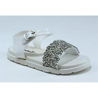 Infant's Open Toe Sparkle Jelly Sandals White Shoe