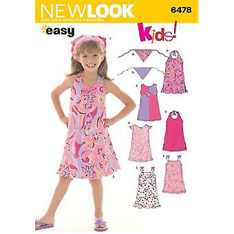 New Look Sewing Pattern 6478 Girls Child Dresses Size A (3-4-5-6-7-8)