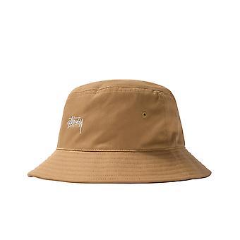 Unisex hat stussy khak stock bucket hat khaki 1321023.khaki