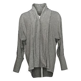 Isaac Mizrahi Live! Frauen's Pullover soft Open Front Cardigan grau A385939