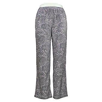 Stan Herman Kobiety&s Petite Silky Velour Nowość Piżama Spodnie Fioletowy A381683