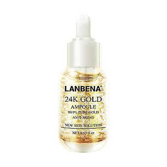 Anti ageing 24 k gold collagen skin serum ampoules