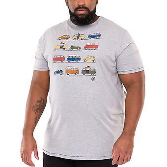 Duke D555 Mens Whittam Big Tall King Size Crew Neck T-Shirt Tee Top - Grey