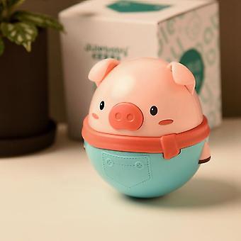 Animali dei cartoni animati Carino maialino Teether Tumbler Doll Balance Baby Bath Giocattolo