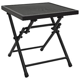 vidaXL Складной стол Сетка 38x38x38 см Сталь Антрацит